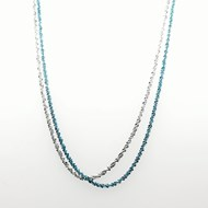 Collier Elden argent 2 rangs blanc/bleu turquoise collection Catch the Rainbow