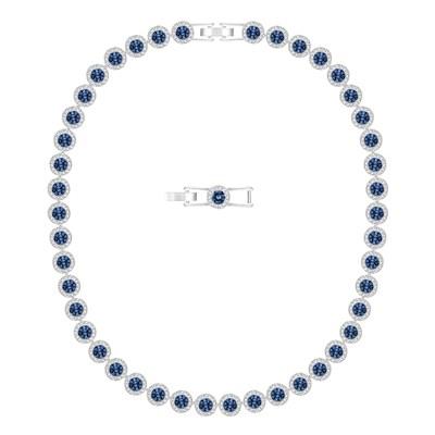 swarovski collier perle bleue