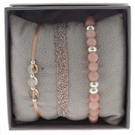 Bracelets Les Interchangeables Strass Box Fabric 6 Rose/Saumon