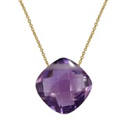 Collier or 375 Amethyste naturelle