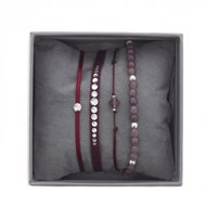 Bracelets Les Interchangeables Strass Box Mini Glam rose bordeaux