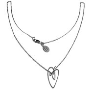 Collier chaine 'Joli Coeur' en or et diamant - Virginie Carpentier