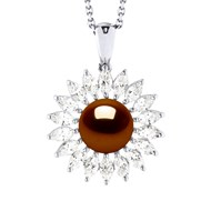 Collier Perle de Culture d'Eau Douce 8-9 mm | Motif Soleil
