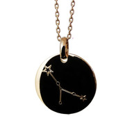 Collier Somptuose Plaqué Or Constellation Cancer