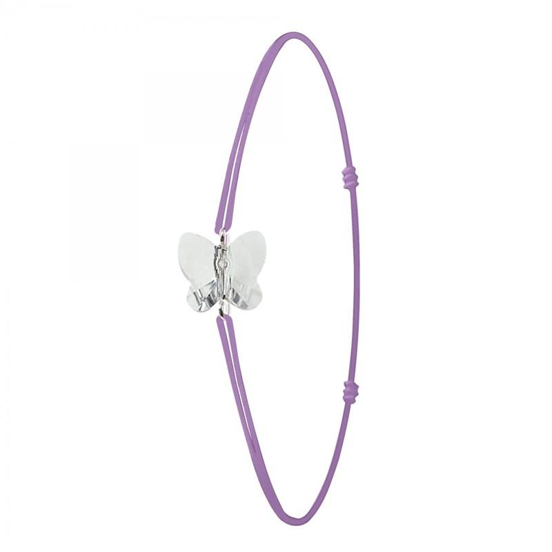 bracelet femme papillon violet