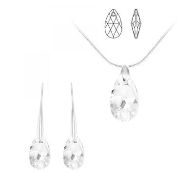 Parure collier et boucles d'oreilles SC Crystal orneés de Cristaux  Autrichiens