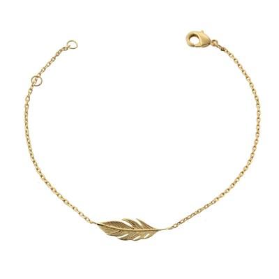 bracelet femme plume