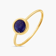 Bague Simple Chrysta en Or Jaune 18k Lapis-Lazuli
