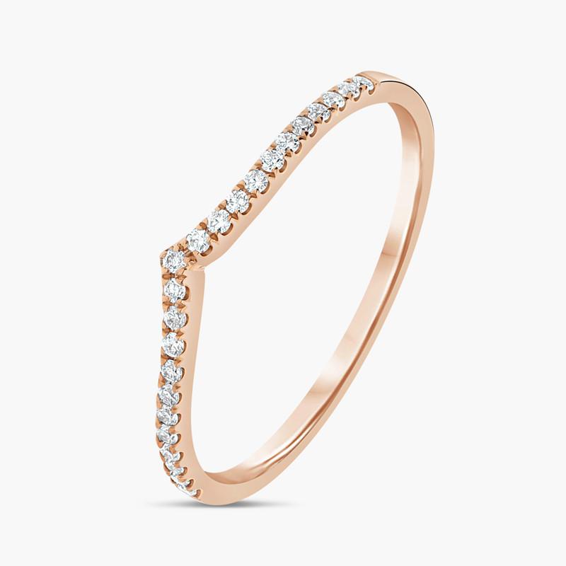 grande vente style de la mode de 2019 dessin de mode Bague Simple Charlotte en Or Rose 18K Diamant