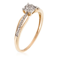 Bague Or Jaune LA PROMISE Diamants 016-28