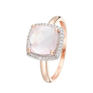 Bague Or Rose QUARTISSIME D 012-36 & Quartz Rose 27-1