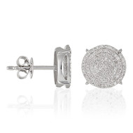 Boucles d'oreilles Or Blanc SUBLISSIME Diamants 045-200