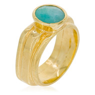 Bague ''Flora'' Amazonite Verte