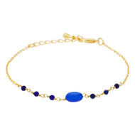Bracelet ''Betty'' Jade bleue