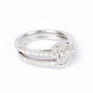 Bague Or Blanc 375 ''DUO MAJESTÉ'' Diamants 0.51 cts