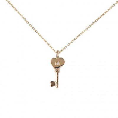 collier femme clef