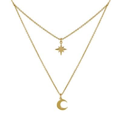 collier femme lune et etoile