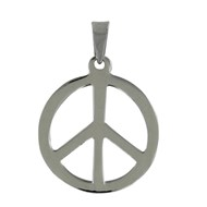 Pendentif Argent Peace and Love 2cm