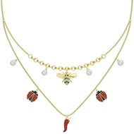 Collier double Swarovski Lisabel