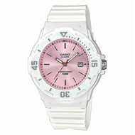 Montre Casio Collection blanche fond rose