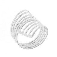 Bague Argent 925 sterling silver Double-spirales Gracioza