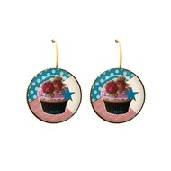 Dormeuses cabochon cup cake