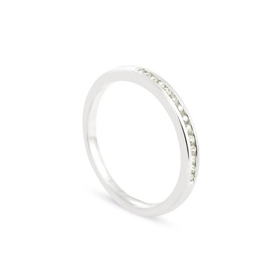 Alliance Collection Duos en Or blanc 375/00 Diamant 0,1 carat - vue V1
