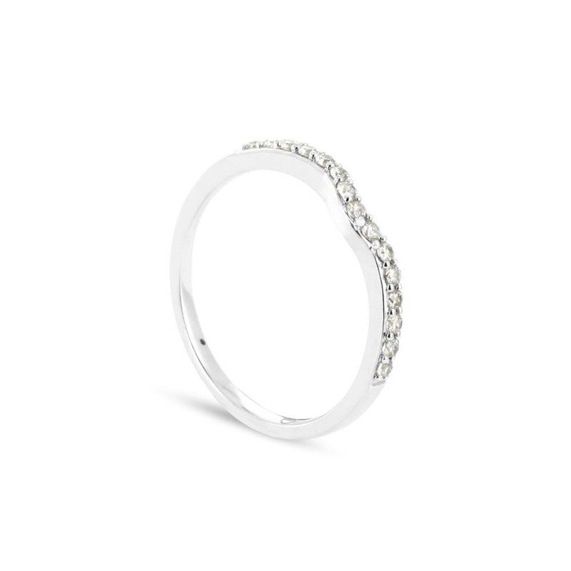 Alliance Collection Duos en Or blanc 375/00 Diamant 0,17 carat - vue V1