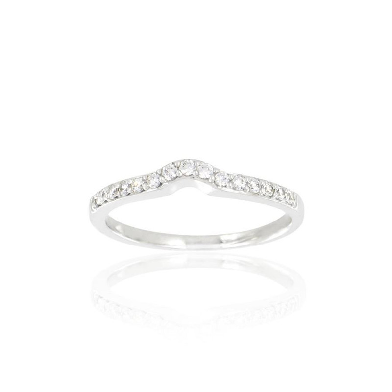 Alliance Collection Duos en Or blanc 375/00 Diamant 0,17 carat - vue V3