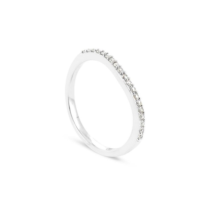 Alliance Collection Duos en Or blanc 375/00 Diamant 0,12 carat - vue V1