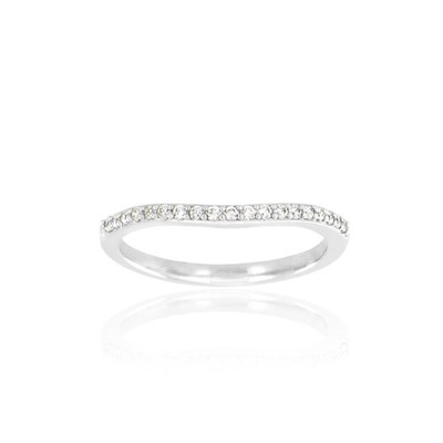 Alliance Collection Duos en Or blanc 375/00 Diamant 0,12 carat - vue V3