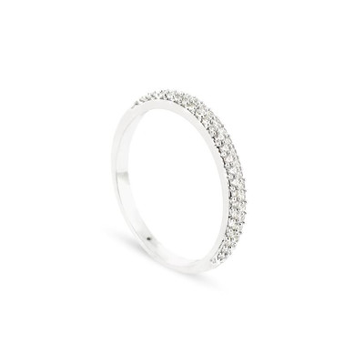 Alliance Collection Duos en Or blanc 375/00 Diamant 0,22 carat - vue V1