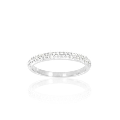 Alliance Collection Duos en Or blanc 375/00 Diamant 0,22 carat - vue V3