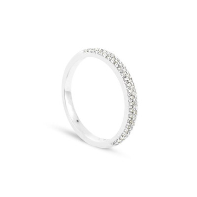 Alliance Collection Duos en Or blanc 375/00 Diamant 0,21 carat - vue V1