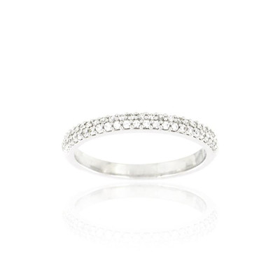 Alliance Collection Duos en Or blanc 375/00 Diamant 0,21 carat - vue V3