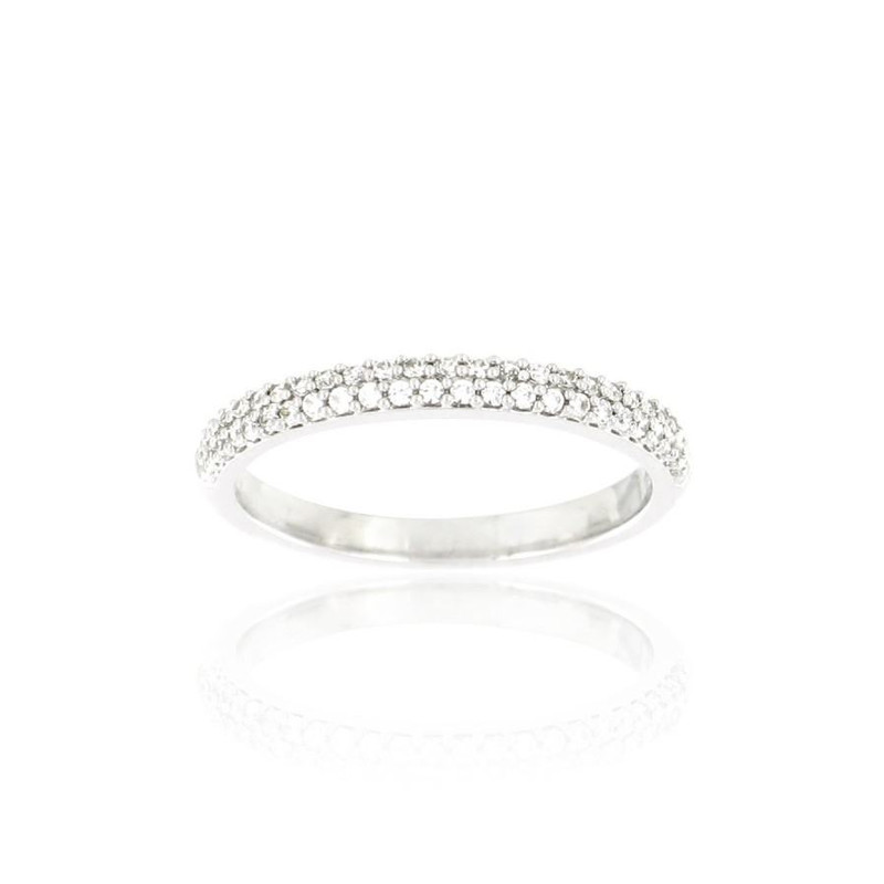 Alliance Collection Duos en Or blanc 375/00 Diamant 0,21 carat - vue 3