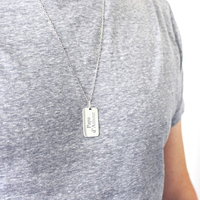 collier argent ou or