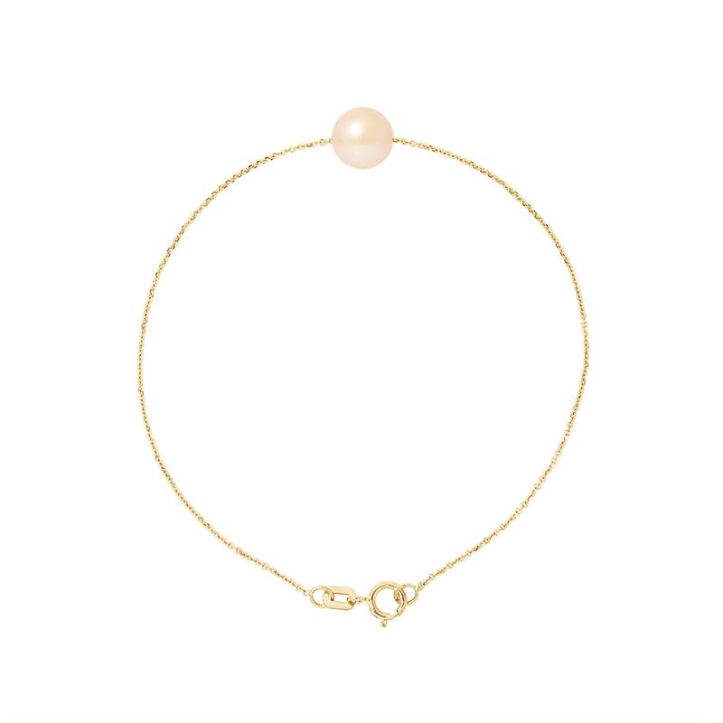 bracelet femme perle rose