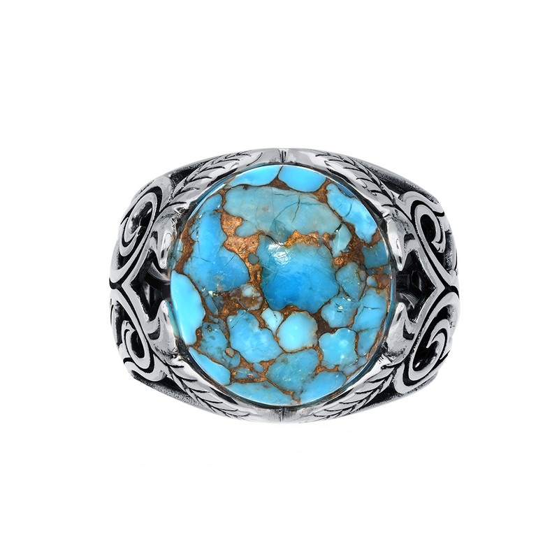Bague turquoise jungle.