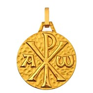 Médaille Christ or 375 jaune
