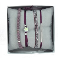Bracelets Les Interchangeables Coffret Strassbox Fabric bordeaux