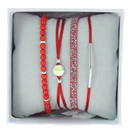 Bracelets Les Interchangeables Coffret Strassbox Fabric rouge
