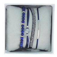 Bracelets Les Interchangeables Coffret Strassbox Fabric Bleu marine