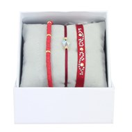 Bracelets Les Interchangeables Coffret Strassbox Perles Gomme Bordeaux Golden Shadow
