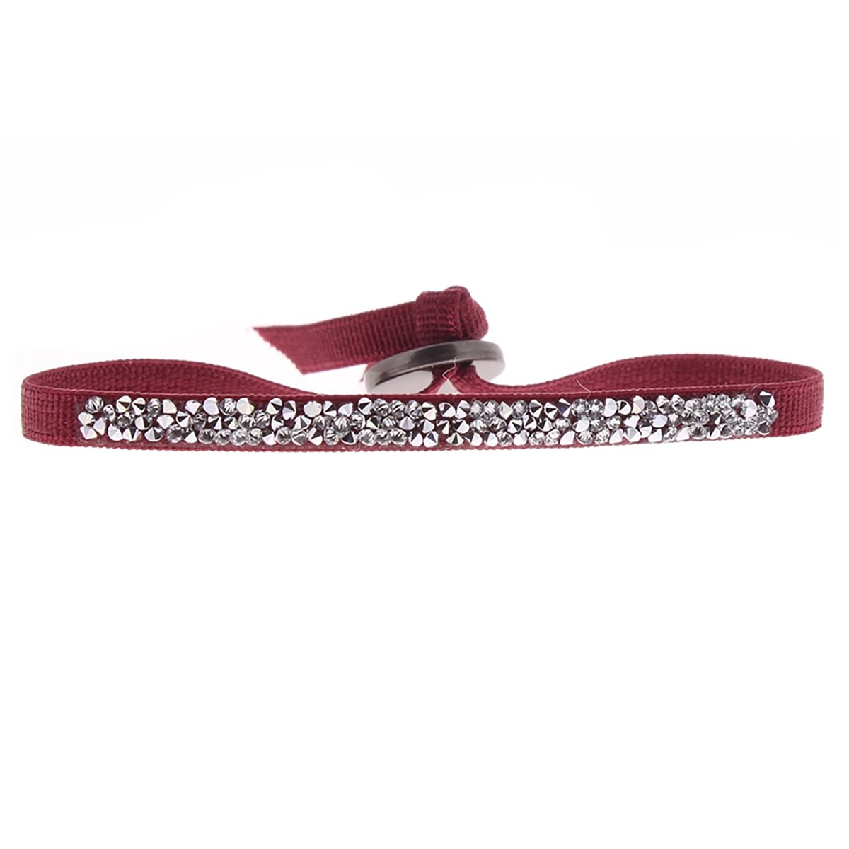 Bracelet Les Interchangeables Ultra Fine Rocks bordeaux