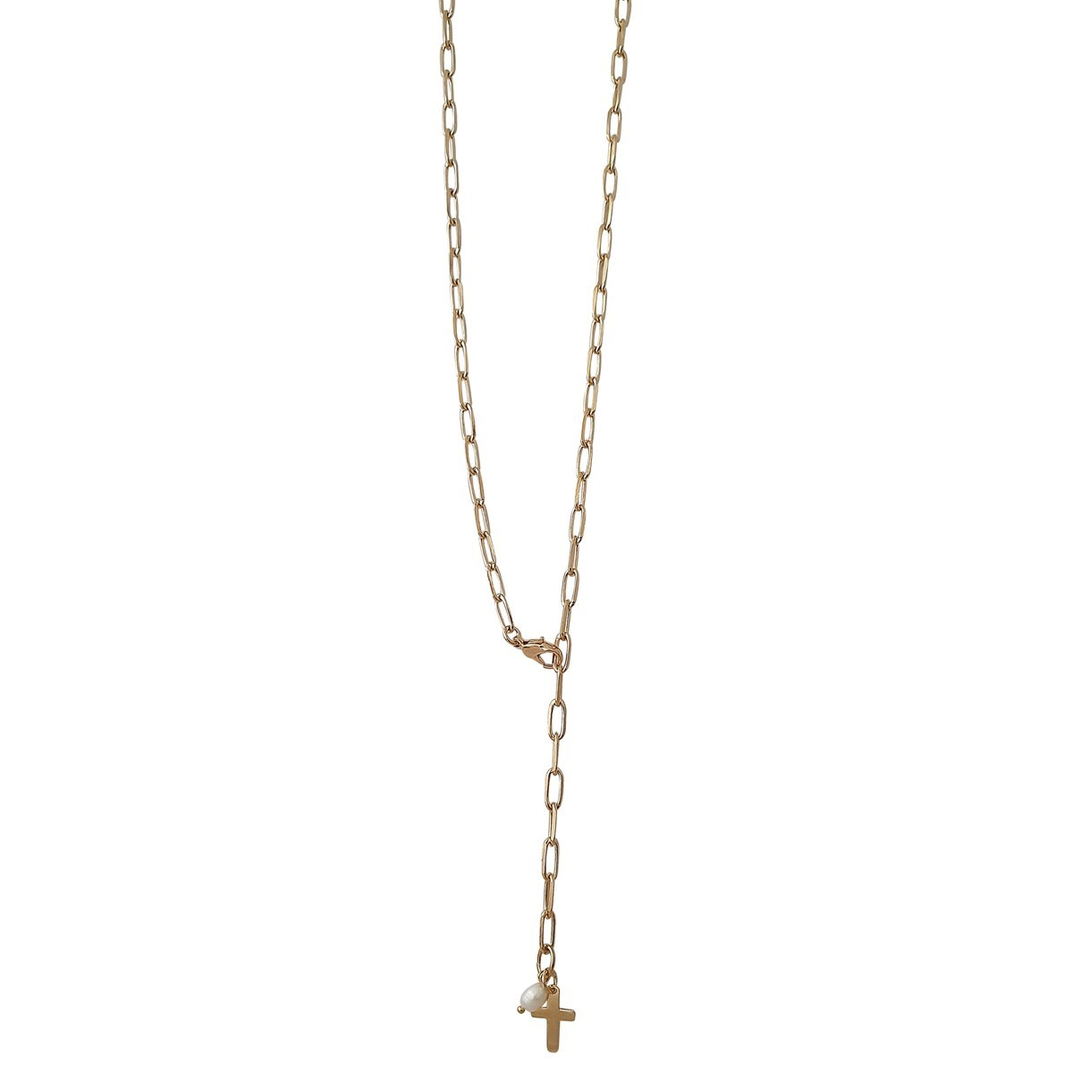 collier femme or croix