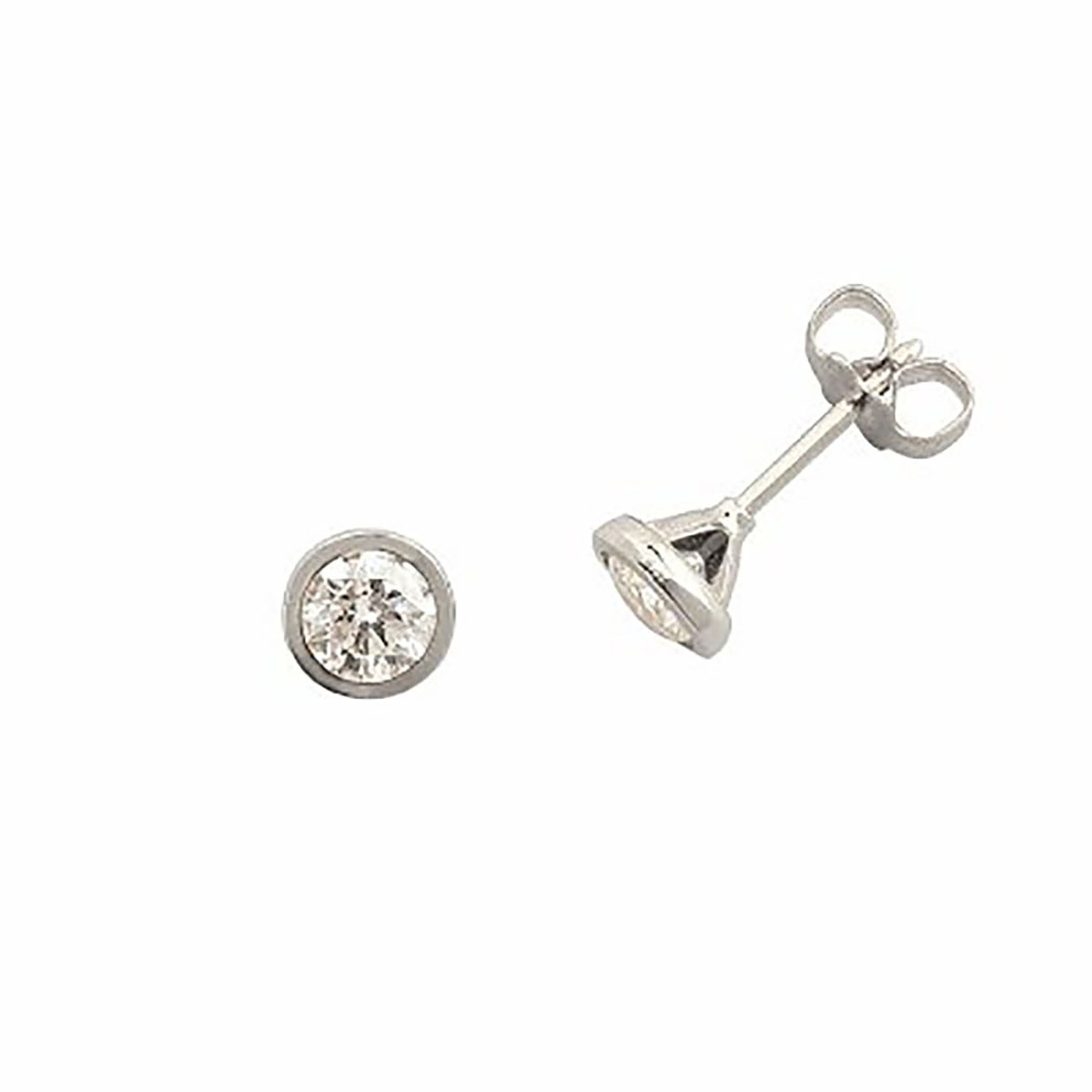 Boucles d'oreilles Brillaxis diamants serti clos fin