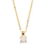 Collier Brillaxis en or 9 carats et un diamant