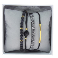 Bracelets Les Interchangeables Coffret Strass Box Fabric Noir