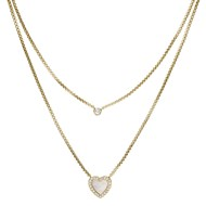 Collier Fossil Elegant Hearts